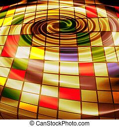 abstract, creatief, goud, achtergrond, in, de, stijl, van, gemengde media