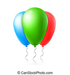 Abstract creative concept flight balloon with ribbon. For Web and Mobile Applications isolated on background, art illustration template design, business infographic and social media icon