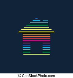 Abstract Creative concept icon of house for Web and Mobile Applications isolated on background. illustration template design, Business infographic and social media, origami icons.