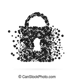 Abstract creative concept icon of padlock for Web and Mobile Applications. Art illustration creative template design, Business software and social media infographic