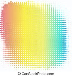 Abstract creative concept vector comic pop art style blank, layout template with clouds beams and isolated dots pattern on background. For sale banner, empty bubble, illustration halftone book design