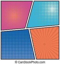 Abstract Creative concept vector comics pop art style blank...