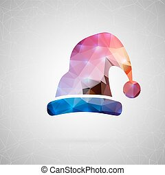 Abstract creative concept vector icon. For web and mobile content isolated on background, unusual template design, flat silhouette object and social media image, triangle art origami.