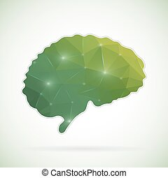 Abstract Creative Concept Vector Icon Of Brain For Web And Mobile Applications Isolated On Background