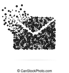 Abstract Creative concept vector icon of envelope for Web and Mobile Applications isolated on white background. Art illustration template design, Business software and social media infographic