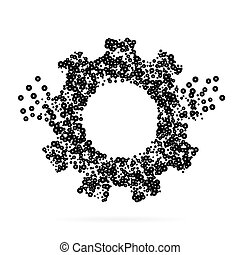 Abstract creative concept vector icon of gear for Web and Mobile app isolated on background. Art illustration template design, Business infographic and social media, digital flat silhoette