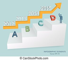 Abstract Creative concept vector icon of Step by step infographics for Web and Mobile Applications isolated on background. Vector illustration template design, Business infographic and social media