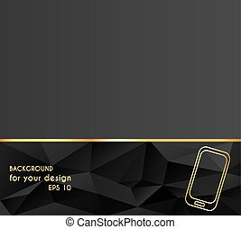 Abstract Creative concept vector illustration of modern Mobile phone. Line icons. Design style letterhead and brochure.