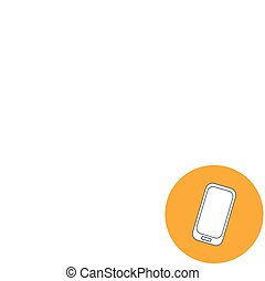 Abstract Creative concept vector illustration of modern Mobile phone. Line icons. Flat design pictogram.