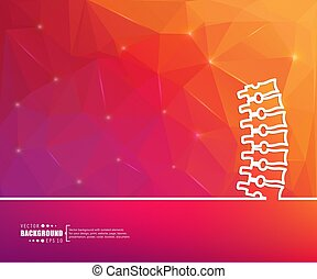 Abstract creative concept vector line draw background for...