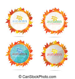 abstract creative emblem sign set isolated