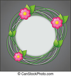 Abstract creative floral background