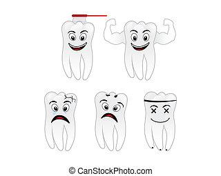abstract creative human tooth
