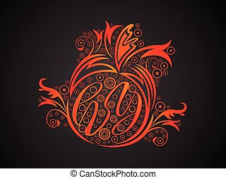 abstract creative orange floral
