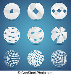 Abstract creative spheres - Modern vector creative abstract...