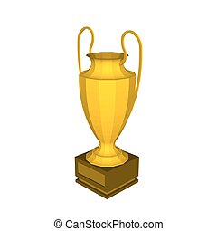 Abstract creative trophy cup set. Isolated mockup on background. Isometric 3D style template. For web and mobile app clipart art. Concept idea design element. Vector illustration infographics theme