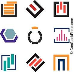 Abstract creativity for professional logo company icon set