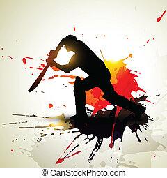 abstract cricket background grunge artwork