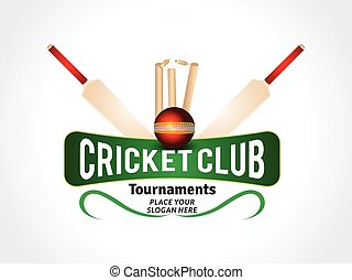 abstract cricket background with ball & bat vector...
