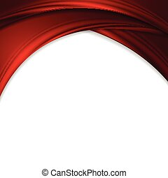 Abstract crimson red wavy background
