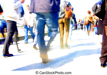 Abstract crowd of people - abstract people walking motion...