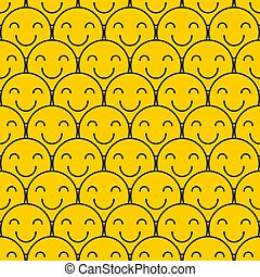 Abstract crowd of smiling people