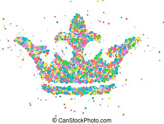 Abstract crown king