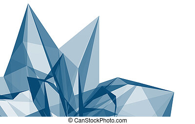 Abstract crystal - Abstract blue crystal structure