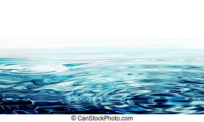 Abstract Crystal Clear Blue Water Ripples - Waves, crystal...