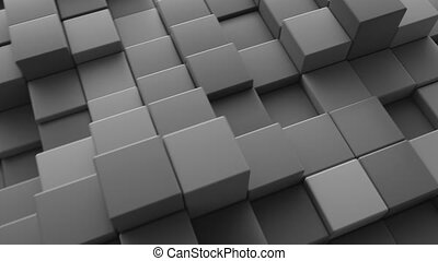 Abstract cube background. 4K CGI animation.