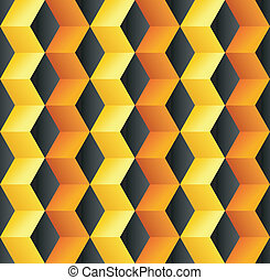 Abstract cube colorful background
