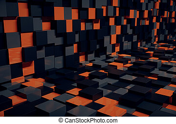Abstract cube interior