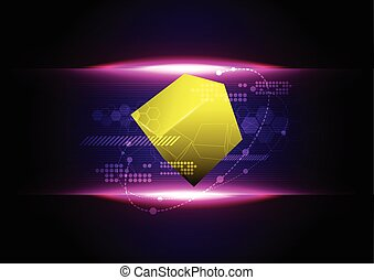 abstract cube technology background