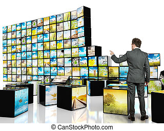 Abstract cube television
