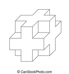 abstract cube. Vector illustration