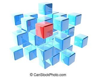 abstract cubes - 3d rendered illustration of an abstract ...