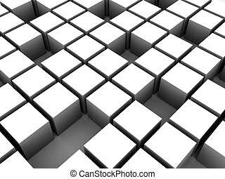 abstract cubes
