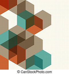 Abstract cubes background for desig