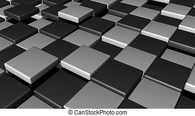 Abstract Cubes Background Random Motion