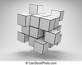 Abstract cubes - Design of abstract cubes