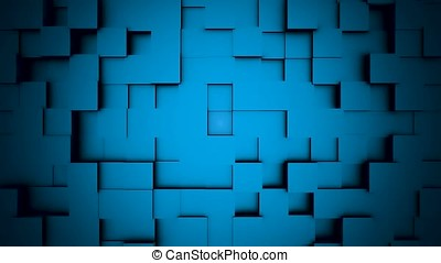 Abstract cubes move, 3D animation. Seamless Looping Abstract...