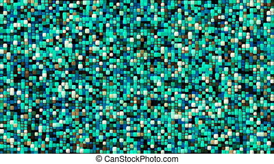 Abstract Cubes tech background Looped 3d Animation. Blue gamma.