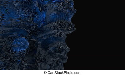 Abstract cubic forms explode across the frame. 4K UHD...
