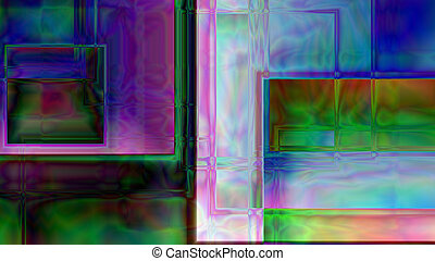Abstract Cubic Prism Background