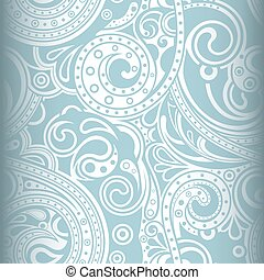 Abstract Curly Floral Pattern