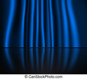 Abstract curtain baclground