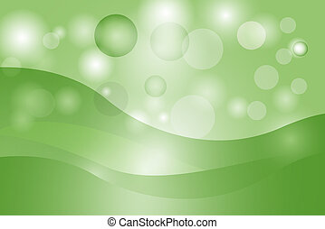 Abstract curve and line green background