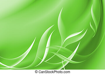 Abstract curve green background