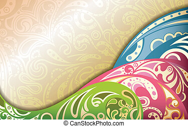 Illustration of abstract design retro curve background.