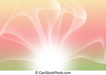 abstract curve multicolor background